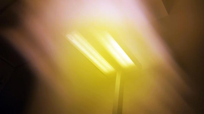 So sieht die Lampe dann mit Wassereffekt aus.