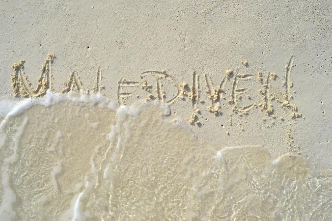 Wellen Schriftzug Bilder Malediven Fotografie Blog Social Me Social U