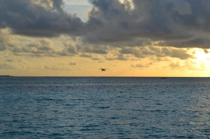 Mit diesem Wasserflugzeug haben wir die Insel dann wieder verlassen und sind zum Flughafen gebracht worden. Wer durfte wohl nicht mitfliegen?