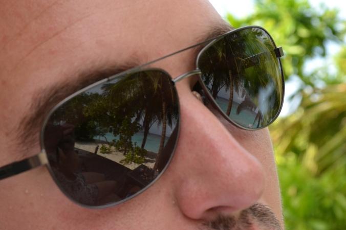 Die Sonnenbrille meines Mannes spiegelte gut. ;)