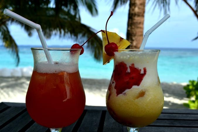 Die gab es fast jeden Nachmittag: Cocktails - aber meistens alkoholfreie. ;)