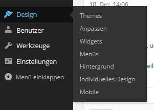 Gehe zu Design...